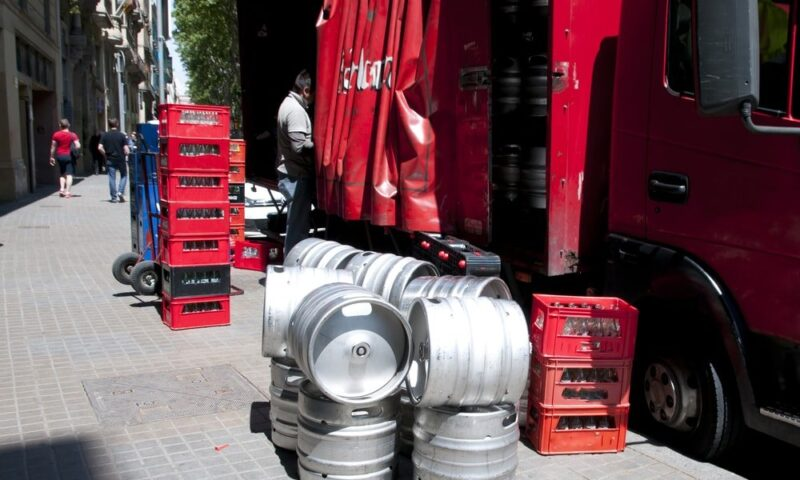 Beer delivery open container